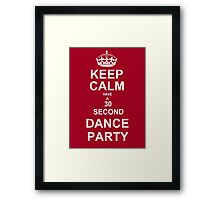 Grey's Anatomy Fans Keep Calm And Dance ! * Scarves and leggings added * Framed Print