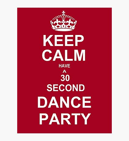 Grey's Anatomy Fans Keep Calm And Dance !  Photographic Print
