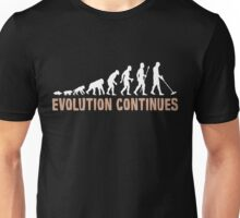 Evolution Of Man And Metal Detecting Unisex T-Shirt
