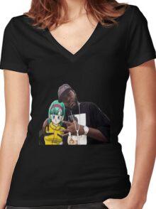 Bulma triple OG. (Front) Women's Fitted V-Neck T-Shirt