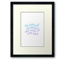 screen tøp lyrics Framed Print