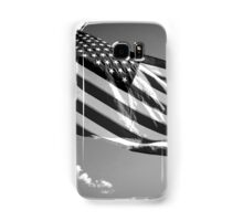 American Flag in Black and White Samsung Galaxy Case/Skin