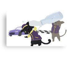 Racer Cat Victory Canvas Print
