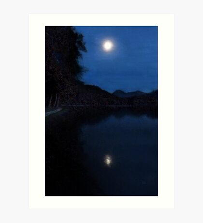 Moonlight On Lake Wolfgang Art Print