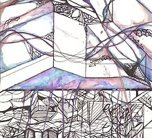 Multi Dimensional Psychedelic Mixed Media Design by katieowens