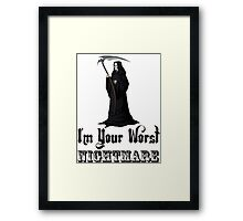 death angel nightmare Framed Print