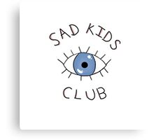 Sad Kids Club (White) Canvas Print
