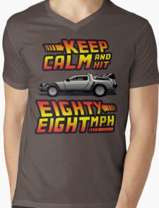 Keep Calm and Hit Eighty-Eight MPH Mens V-Neck T-Shirt