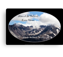 Mount St Helens lava dome 2 oval Canvas Print