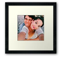 Zalfie cuddle  Framed Print