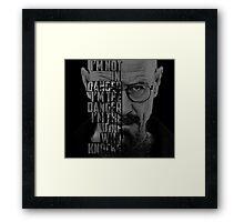 Heisenberg Knocks Framed Print