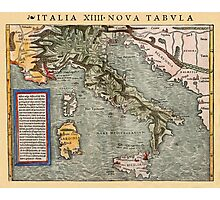 Map Of Italy 1540 Photographic Print