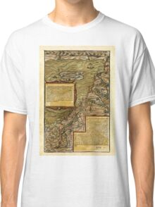 Map Of The Holy Land 1544 Classic T-Shirt