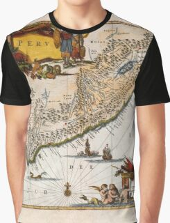 Map Of Peru 1671 Graphic T-Shirt