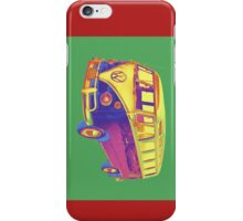 Classic VW 21 window Mini Bus Pop Art Image iPhone Case/Skin