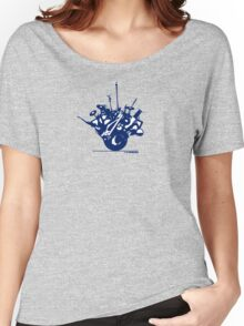 Globe in Blue Women's Relaxed Fit T-Shirt