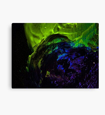 Green and blue nebula Canvas Print