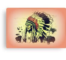 American Indian Chief Canvas Print