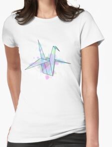 Confetti Crane Womens Fitted T-Shirt