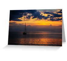 Sunset off Northern Bali Greeting Card
