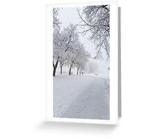 Frost Bite Greeting Card