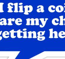 Flip a Coin Sticker
