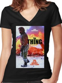 THE THING 7 Women's Fitted V-Neck T-Shirt