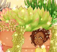 Succulent Girl Sticker