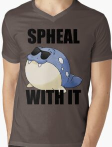 SPHEAL WITH IT! Mens V-Neck T-Shirt