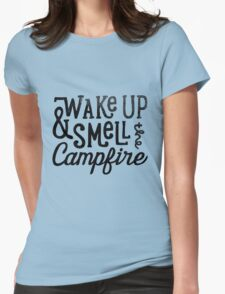 wake up & smell Womens Fitted T-Shirt