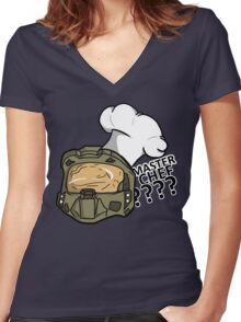 Chief Of Culinary? Women's Fitted V-Neck T-Shirt