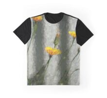 Yellow Dandelions in front of the Iron Fence Graphic T-Shirt