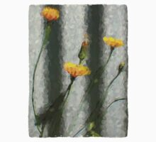 Yellow Dandelions in front of the Iron Fence Kids Tee