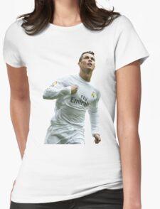 cristiano ronaldo goal Womens Fitted T-Shirt
