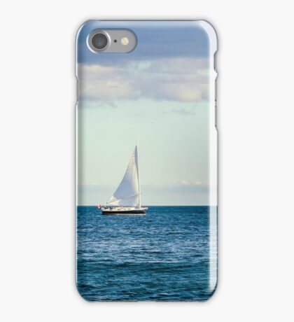 sail boat on the horizon iPhone Case/Skin
