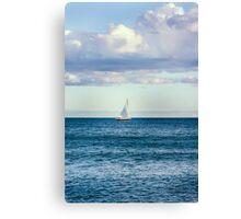 sail boat on the horizon Canvas Print