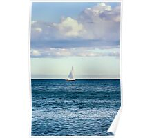 sail boat on the horizon Poster