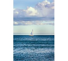 sail boat on the horizon Photographic Print