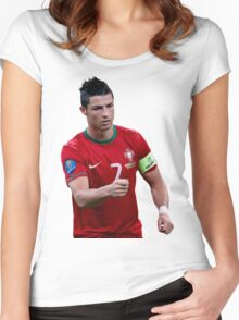 cristiano ronaldo  portugal Women's Fitted Scoop T-Shirt