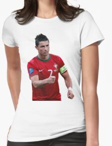 cristiano ronaldo  portugal Womens Fitted T-Shirt