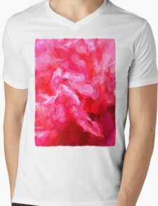 Pink Petals Mens V-Neck T-Shirt
