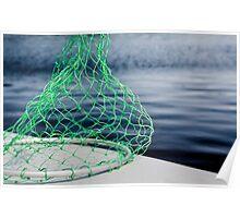 Green fishing net Poster