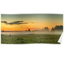 Fog over fields Poster