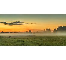 Fog over fields Photographic Print