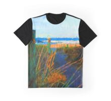 Beach View from the Left of the Path Graphic T-Shirt