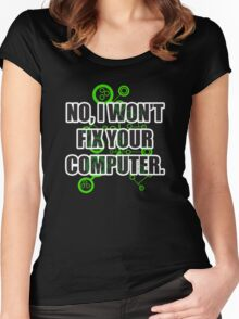 No Fixing Computers Women's Fitted Scoop T-Shirt