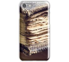 Antique books iPhone Case/Skin