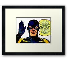 The Black Hood Framed Print