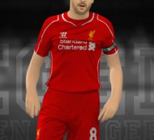 steven gerrard cartoon Sticker