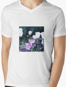 Tulips. Mens V-Neck T-Shirt